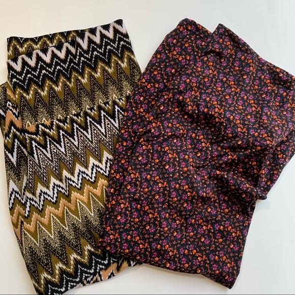 Lularoe Azure Midi Skirt - bundle of 2